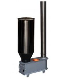Estufa para orujo, cáscaras, y pellet (con adaptador) modelo PRIMAVERA con deposito galvanizado I.V.A incluido