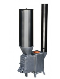 Estufa para orujo, cáscaras, y pellet (con adaptador) modelo CC con deposito galvanizado I.V.A incluido