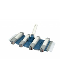 ESCOBA FLEXIBLE – 8 ruedas – piscina de hormigón – 35 cm - C/ Clip I.V.A Incluido