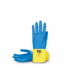 Guantes látex natural bicolor azul/amarillo Modelo 9007 - I.V.A incluido